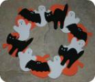 Halloween Foam Wreath