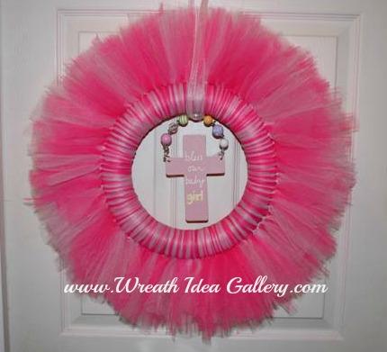 Tule Baby Wreath # WreathIdeaGallery.com