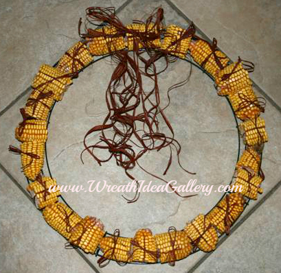 Easy #Corn Cob Wreath will be loved by your squirrels.