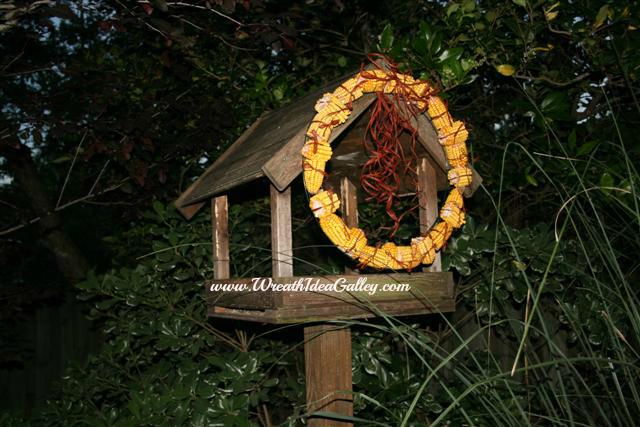 Easy to make #corn cob wreath