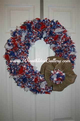 Fabric Punch Wreath
