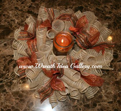 Fall Deco Mesh centerpiece # www.wreathideagallery.com