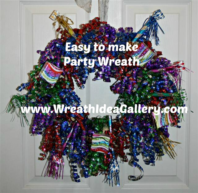 #party wreath #birthay wreath