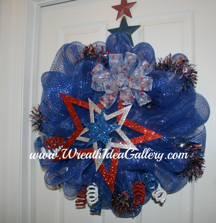 #patriotic deco mesh wreath
