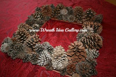 #pinecone wreath