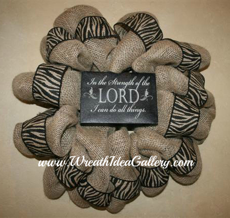 Burlap Religious Bible Quote