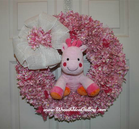 Fabric Punch Wreath
