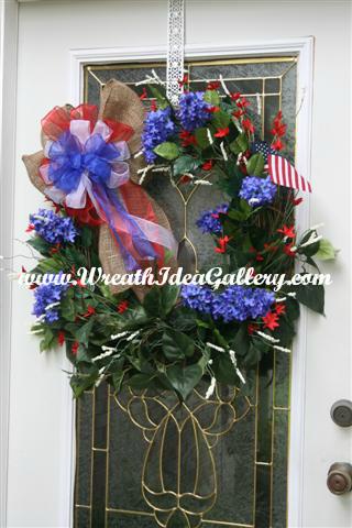 Patriotic Grapevine Wreath